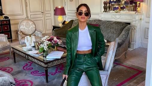 Зелений костюм для особливого випадку: Каміла Коельо демонструє розкішний образ