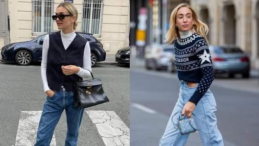 6 удивительных образов с джинсами от инстаграм-модниц: фото