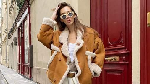 Дубленка – тренд осени: с чем носить стильную верхнюю одежду